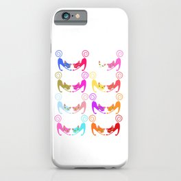 """Colorful Cats"" Halloween Shirt For October 31st T-shirt Design Spooky Creepy Halloween Scary Ghost iPhone Case"