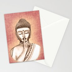 Buddha Shh.. Do not disturb - Colored version Stationery Cards