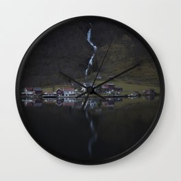 River that vanishes (Fjord) Wall Clock