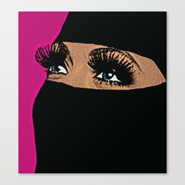 BLUE EYES. Canvas Print