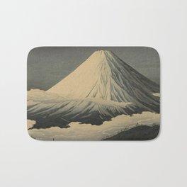 Shotei Takahashi Four Seasons of Mount Fuji Near Omuro Kawase Hasui Japanese Woodblock Print Bath Mat