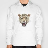 leopard Hoodies featuring Leopard by dailydunners