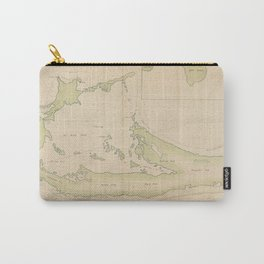 Vintage Map of Bermuda (1760) Carry-All Pouch