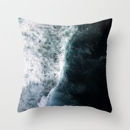 Oceanscape - White and Blue Throw Pillow
