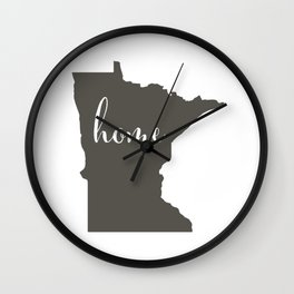 Minnesota is Home Wall Clock