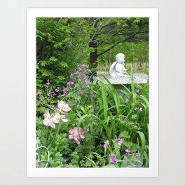garden angel 2 Art Print