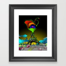 Eiffel Flower Framed Art Print