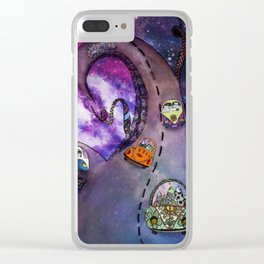 On the galaxy road Clear iPhone Case