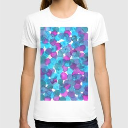 Watercolor Circles - Turquoise and Purple T-shirt