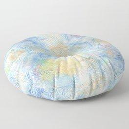 Tangled Blue Fireworks Floor Pillow