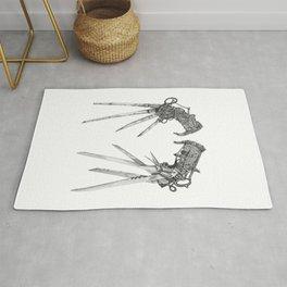 Scissorhands (BnW) Rug