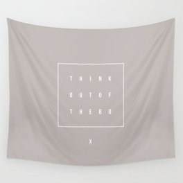 Out of the box - Typographic Wall Tapestry