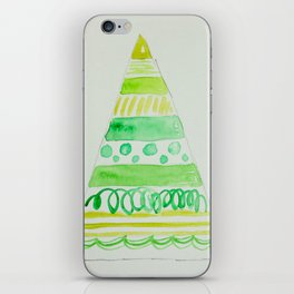 All the greens Christmas tree iPhone Skin