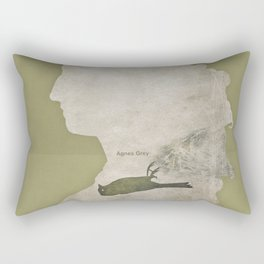 Anne Brontë Agnes Grey - Minimalist literary design Rectangular Pillow