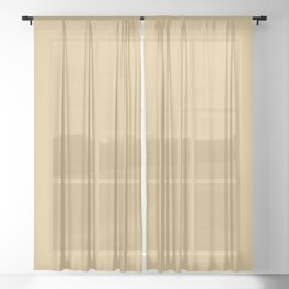 Golden Brown / Tan / Beige Solid Color Inspired Harpswell Green 3007 Sheer Curtain