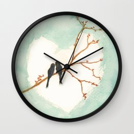 Birdlove Wall Clock