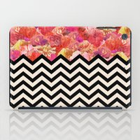 yetiland iPad Cases featuring Chevron Flora by Bianca Green