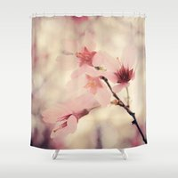 blush Shower Curtains featuring Blush by Jenndalyn