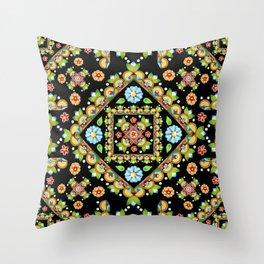 Cottage Garden Parterre Throw Pillow