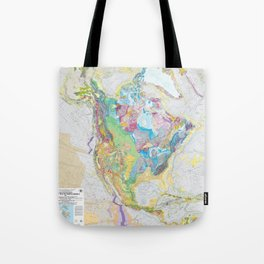 USGS Geological Map of North America Tote Bag