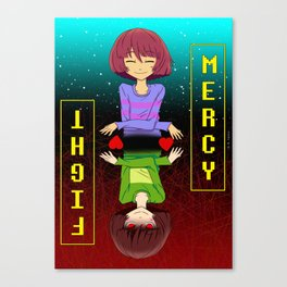 Undertale mercy or fight Canvas Print