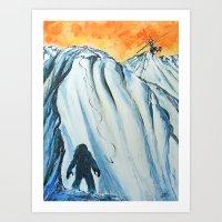 yeti Art Prints featuring Yeti by ArtSeriously