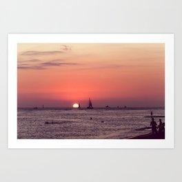 Sunset in Hawaii 0003 Art Print