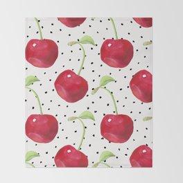 Cherry pattern II Throw Blanket