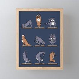 American Pit Bull Terrier Yoga Framed Mini Art Print