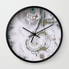 Kaunas Town Hall square, winter season Wall Clock