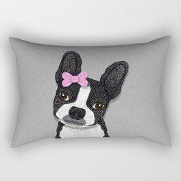 Boston Girl Rectangular Pillow