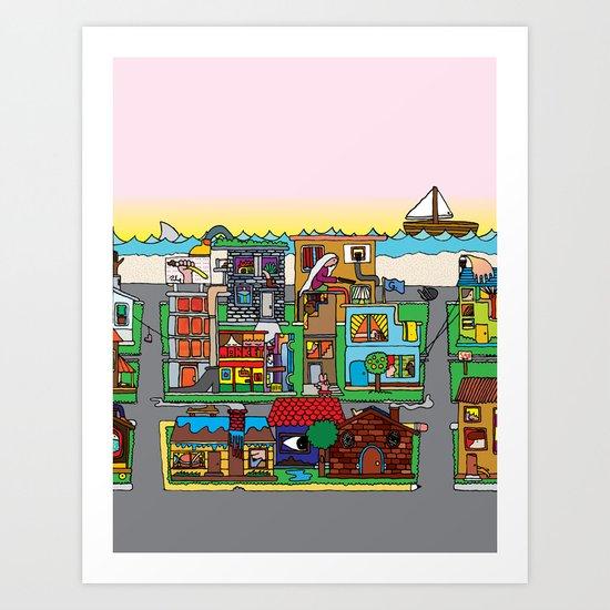 Good Magazine Neighborhoods Art Print