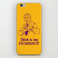 lakers iPhone & iPod Skins featuring Chick is my Homeboy! by GOGILAND