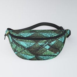 Distressed geometric pattern Fanny Pack
