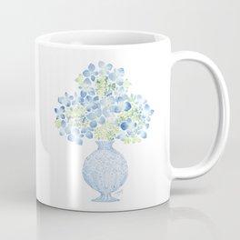 Blue Hydrangea Watercolor Coffee Mug