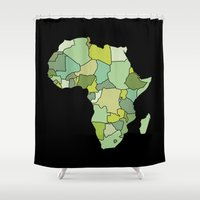 south africa Shower Curtains featuring Africa by Emir Simsek