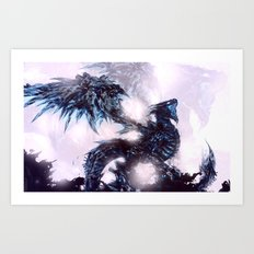 Coldfire Dragon Art Print