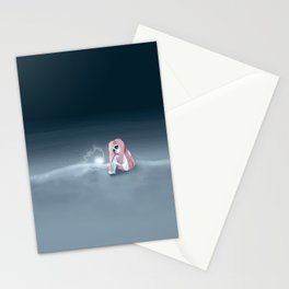 I'm all alone in a world that seems so dark Stationery Cards