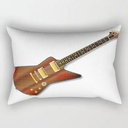 Modern Grunge Guitar Rectangular Pillow