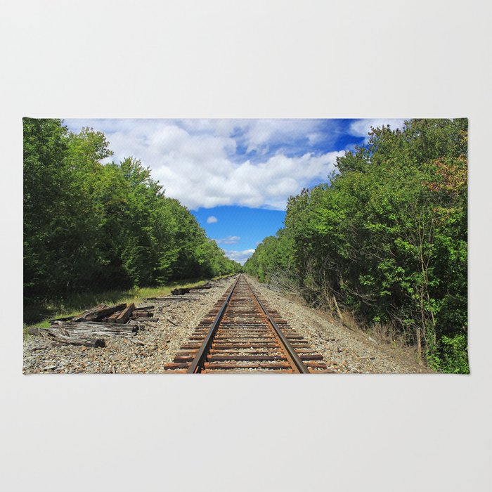 Beautiful Day Train Tracks Rug