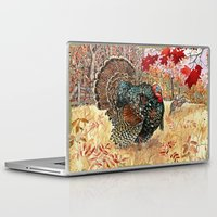 turkey Laptop & iPad Skins featuring Woodland Turkey by Edith Jackson-Designs