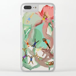 Let's Go Swimming! Clear iPhone Case