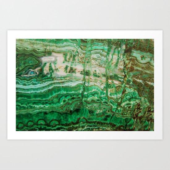 MINERAL BEAUTY - MALACHITE Art Print