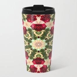 Old Red Rose Kaleidoscope 5 Travel Mug