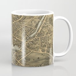 Vintage Pictorial Map of Stamford CT (1875) Coffee Mug