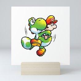 Yoshi Mario Mini Art Print