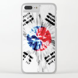 Extruded flag of South Korea Clear iPhone Case