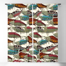 Alaskan salmon pearl Blackout Curtain