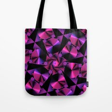 Abstract 344 a berry and black kaleidoscope Tote Bag