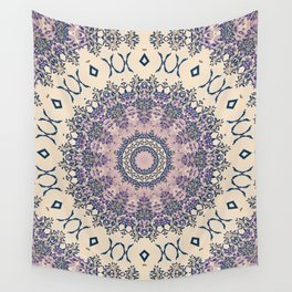 No. 20 Wisteria Arbor Way Regal Purple & Ivory Hugs and Kisses Mandala Wall Tapestry